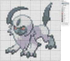 359 - Absol by Makibird-Stitching
