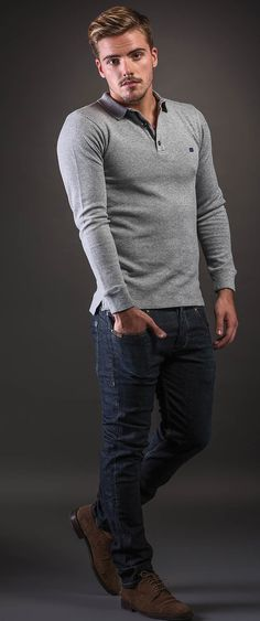 VITTOR FARIA mens wear Jeans, Fall Winter, Men Sweater, Sweaters, How To Wear, Style, Fashion, Nightgown, Swag