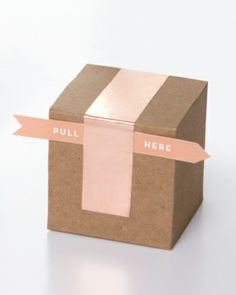 Taped Favor Box