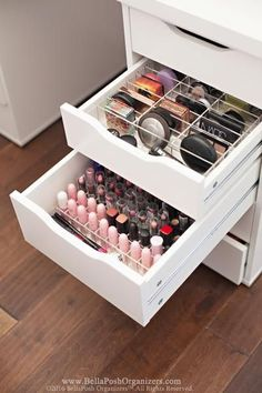 Alexandra compact organizer fits ikea alex drawers bellaposh organizers these 22 magnificent makeup stations will inspire you Organizer Makeup, Lipstick Organizer, Make Up Organizer, Makeup Drawer Organization, Home Office Organization, Storage Organizers, Ikea Makeup Storage, Storage Drawers, Organization Ideas