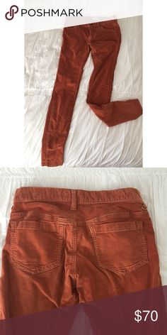FREE PEOPLE • burnt orange corduroy skinny pants Size 26 - lightly used. GREAT CONDITION! Free People Pants Skinny