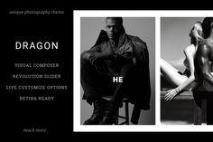 Dragon: Unique Photography Theme by ThemeTon on Creative Market
