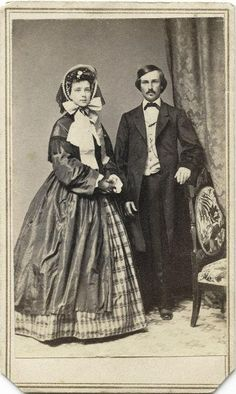 No idea when it may have been taken but by the fashion possibly 1860's thru 1880's. Reminds me of Gone with the Wind.