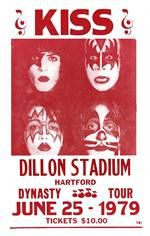Add personality to any space with this portrait KISS Dillon Stadium Concert Poster from their 1979 performance. 14in x 22in.                                                                                                                                                                                 More