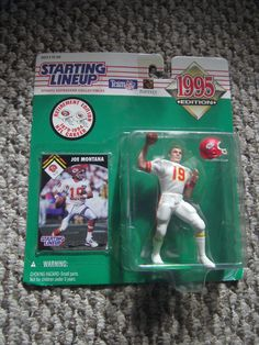 Starting Lineup Joe Montana 1995 Retirement Edition Action Figure KC Chiefs #19 #Kenner