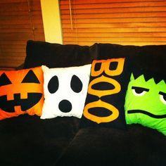 Face pillows for Halloween!