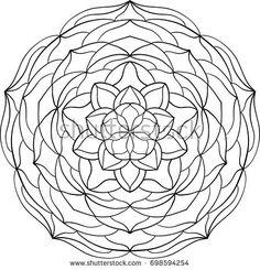Abstract mandala. Vintage decorative element. Round lace ornament pattern. DEcorative design element for coloring book, card, poster, banner, textile, web. Vector illustration.