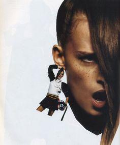 Anne Catherine Lacroix for Vogue Paris October 2002 shot by Inez & Vinoodh