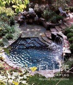 Hot Tub Backyard, Ponds Backyard, Backyard Patio, Outdoor Pool, Backyard Landscaping, Indoor Outdoor, Backyard Ideas, Landscaping Ideas, Patio Pond