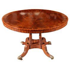 English Breakfast Table in Mahogany, circa 1836