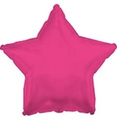 """18"""" Solid Hot Pink Star Shape Balloon Wedding Baby Shower Birthday Over Hill"""