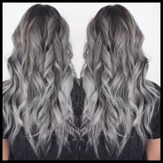 Ombres, blondes and balayage — 50 shades of grey . Balayage Hair Brunette Short, Blonde Asian Hair, Balayage Hair Caramel, Bleach Blonde Hair, Blonde Ombre, Hair Color Balayage, Gray Balayage, Grey Blonde, Grey Ombre