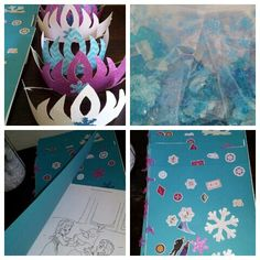 DIY Frozen Party Favors Coloring Books Sparkly Crowns Fractals
