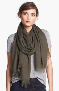 Vince Fringe Scarf available at #Nordstrom