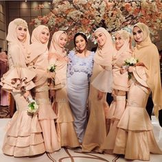 Likes, 46 Comments - Gaun Hijab Dress Party, Hijab Style Dress, Casual Hijab Outfit, Dress Outfits, Muslim Wedding Dresses, Bridal Dresses, Bridesmaid Dresses, Bridesmaid Ideas, Bridesmaids