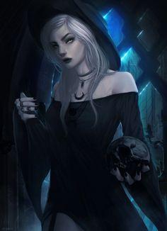 Dark Modern Witch by imGuss.deviantart.com on @DeviantArt