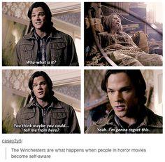 poor Sammy LOL#Supernatural 5x15 Dead Men Don't Wear Plaid  || Sam Winchester