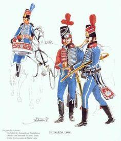 Tropas Españolas. Húsares 1808