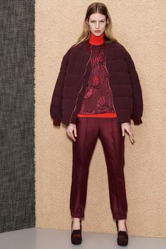 Stella McCartney: Pre-Fall 2013- I predict the elasticized hem on the pants will become a thing.