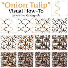 """Onion Tulip"" Visual How-To by Kristina Castagnola"