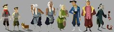 """evonyo: """" Hey gais!!! I was really really fortunate to do some character designs for the shorts that just released for Legend of Korra! Bryan asked if I would design them in my own style and I..."""