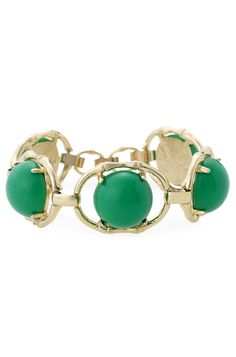 Stella & Dot Emerald Green Zinnia Bracelet. Just got this beauty in the mail!