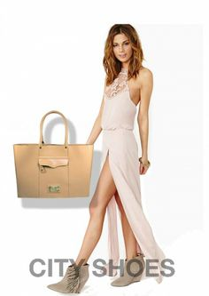 As maxi bolsas beges nunca saem de moda e são sempre elegantes. Invista!