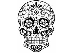 Whimsical Sugar Skull - Temporary Tattoo| | day of the dead | black ...
