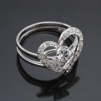 """2 in 1 Love alloy with gold plated Rings - design """"Love"""" (Lucky) couple Rings - FREE SHIP$38 click picture to shop"""