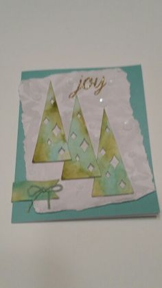 Stampin' Up! demonstrator Rebecca O's project showing a fun alternate use for the Watercolor Winter Simply Created Card Kit.