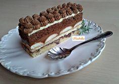 Csokoládés szelet   Izabela Ráczová receptje - Cookpad receptek Hungarian Desserts, Hungarian Recipes, Cake Recipes, Dessert Recipes, Pavlova, Plated Desserts, Cakes And More, Food Inspiration, Cupcake Cakes