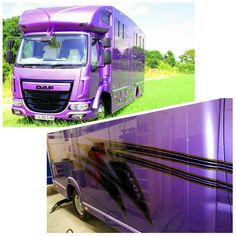 Matching metallic purple paint and soon to be matching stripes  #KPHLTD #HorseHour #Equihour #EquineHour #horsebox #horse