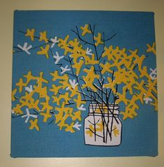 Vintage Fabric Wall Art $39