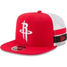 finest selection 29214 3f297 Men s Houston Rockets New Era Red White Striped Side Lineup 9FIFTY  Adjustable Hat,