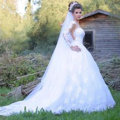 Find More Wedding Dresses Information about Bealegantom New Sexy O Neck Lace A Line Wedding Dresses 2017 With Appliques Backless Plus Size Bridal Gowns Robe De Mariage WD89,High Quality dress clubwear,China dress puff Suppliers, Cheap dress kitty from Bealegantom Wedding Flagships Store on Aliexpress.com