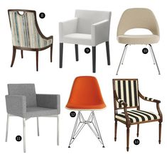 20 Upstanding Upholstered Dining Chairs