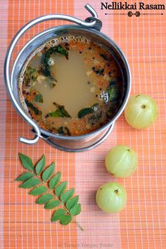 Nellikai Rasam/ Amla Rasam recipe by Sowmya Sundararajan at BetterButter Veg Recipes, Indian Food Recipes, Vegetarian Recipes, Cooking Recipes, Kerala Recipes, Indian Foods, Recipies, Indian Soup, Rasam Recipe