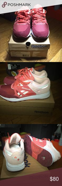 Men's 8 Reebok Burgundy Pink Ventilator Sneakers ALWAYS AUTHENTIC  Please don't offer to trade, nor for that matter, a different payment method  Condo: 9.5/10  Flaws: Worn 2-3x, some toe box crease, could use a cleaning but not that dirty. Men's 8 = Women's 9.5  Does come in an original packaging Reebok Shoes Sneakers