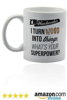 Woodworker handyman white ceramic mug - for coffee or tea 11 oz. Woodworking Workshop, China Dinnerware, Vinyls, Wood Turning, Sharpie, Carpenter, Woody, Business Ideas, Toilet Paper