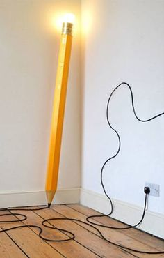 pencil lamp, modern lighting fixture
