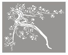 Large Cherry Blossom Stencil