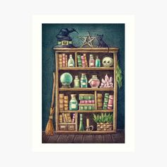 Witch Store, Cupboard, Finding Yourself, My Arts, Art Prints, Printed, Awesome, Illustration, Artist