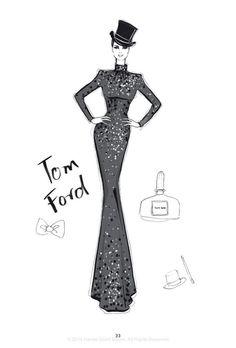 """""""The Dress"""" - 100 najpiękniejszych sukienek na ilustracjach Megan Hess, fot. rizzoliusa.com:"""
