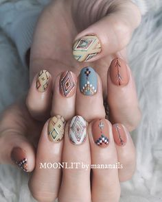 These fabulous nail art designs are super unique and so boho, these will give you the trendy looks and give your nails a whole new edge to them. These designs below and next page include different shades like glitter pink, clear nails with etc. Fall Nail Art Designs, Cute Nail Designs, Cute Nails, Pretty Nails, Hair And Nails, My Nails, Western Nails, Nagellack Trends, Fabulous Nails
