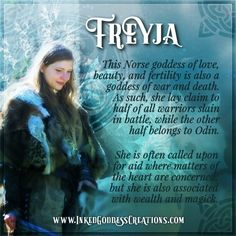 December is sacred to the Norse goddess Freyja! December is sacred to the Norse goddess Freyja!