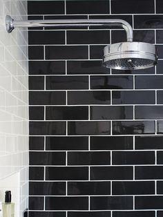 Bathroom Tiles Black black ceramic subway tile | ceramic subway tile, subway tiles and