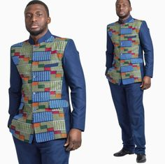 Awesome latest african fashion look . African Wear Designs, African Wear Styles For Men, African Shirts For Men, African Dresses Men, African Attire For Men, African Tops, African Clothing For Men, African Fashion Ankara, African Print Fashion