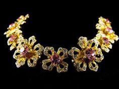 Vintage Givenchy Bracelet Rhinestone Floral Motif by hipcricket, $60.00