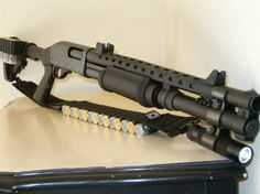 Remington 870 with a few simple upgrades.