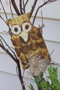 Wooden Owls made from picket fence
